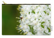 Syrphid Feeding On Alliium Blossom Carry-all Pouch
