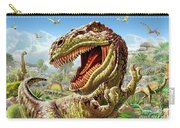 T-rex And Dinosaurs Carry-all Pouch