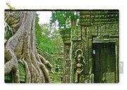 Ta Prohm And Tree Invasion In Angkor Wat Archeologial Park Near Siem Reap-cambodia Carry-all Pouch