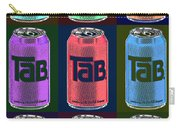 Tab Ode To Andy Warhol Black Carry-all Pouch
