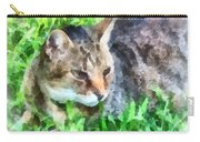 Tabby Cat Closeup Carry-all Pouch