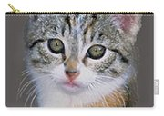 Tabby  Kitten An Original Painting For Sale Carry-all Pouch