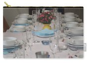 Table Set For A Jewish Festive Meal Carry-all Pouch by Ilan Rosen