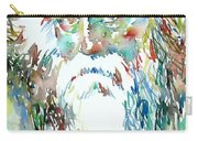 Tagore Watercolor Portrait Carry-all Pouch