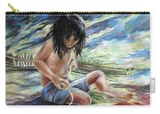 Tahitian Boy With Knife Carry-all Pouch