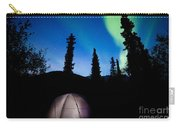 Taiga Tent Illuminated Under Northern Lights Flare Carry-all Pouch