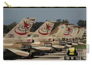 Tail Fins Of Israeli Air Force F-16`s Carry-all Pouch