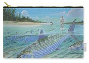 Tailing Bonefish In003 Carry-all Pouch by Carey Chen