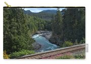 Train Tracks By The Cheakamus River Carry-all Pouch