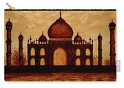 Taj Mahal Lovers Dream Original Coffee Painting Carry-all Pouch