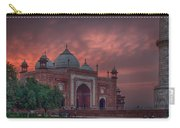 Taj Mahal Mosque At Sunset Carry-all Pouch