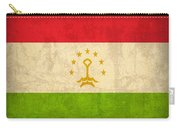 Tajikistan Flag Vintage Distressed Finish Carry-all Pouch