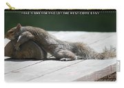 Take A Breather With Caption Carry-all Pouch