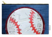 Take Me Out To The Ballgame License Plate Art Lettering Vintage Recycled Sign Carry-all Pouch