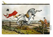 Taking A Tumble From Qualified Horses And Unqualified Riders Carry-all Pouch