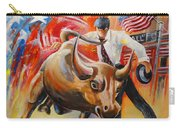 Taking On The Wall Street Bull Carry-all Pouch