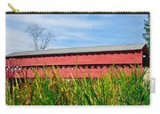 Tall Grass And Sachs Covered Bridge Carry-all Pouch