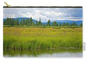 Tall Grasses In Swan Lake In Grand Teton National Park-wyoming Carry-all Pouch