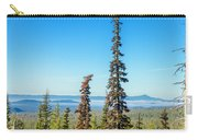 Tall Pine Trees And Hilly Background Carry-all Pouch