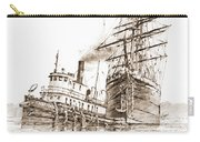 Tall Ship Assist Sepia Carry-all Pouch