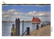Tall Ship The Roseway In Boston Harbor Carry-all Pouch by Joann Vitali