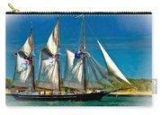 Tall Ship Vignette Carry-all Pouch by Steve Harrington