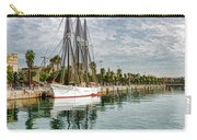 Tall Ships And Palm Trees - Impressions Of Barcelona Carry-all Pouch