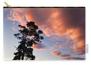 Tall Tree Against A Dramatic Sunset Clouds Sky Carry-all Pouch