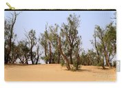 Tamarix Trees On Sand Dune  Carry-all Pouch by Dan Yeger