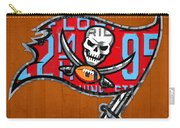 Tampa Bay Buccaneers Football Team Retro Logo Florida License Plate Art Carry-all Pouch