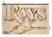 Tampa Bay Rays Logo Art Carry-all Pouch