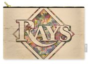 Tampa Bay Rays Vintage Art Carry-all Pouch