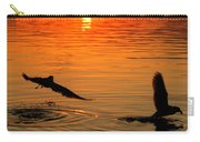 Tangerine Moonlight Carry-all Pouch by Karen Wiles