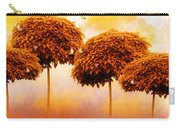 Tangerine Trees And Marmalade Skies Carry-all Pouch by Mo T