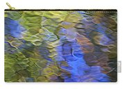 Tangerine Twist Mosaic Abstract Art Carry-all Pouch by Christina Rollo