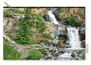 Tangle Falls Along Icefield Parkway In Alberta Carry-all Pouch