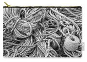 Tangled Rope And Lobster Fishing Gear On Dock Maine Carry-all Pouch