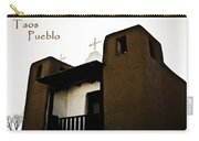 Taos Pueblo Church Carry-all Pouch
