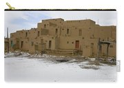 Taos Pueblo With Snow Carry-all Pouch