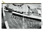 Tarpon Springs Spongeboat Black And White Carry-all Pouch