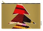 Tartan Christmas Tree On Gold Carry-all Pouch
