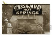 Tassajara Hot Springs Stage Monterey Co. California Circa 1910 Carry-all Pouch