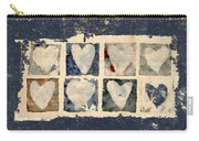 Tattered Hearts Carry-all Pouch by Carol Leigh