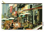 Tavern In The Village Urban Cafe Scene - A Cool Terrace Oasis On A Busy Hot Montreal City Street Carry-all Pouch