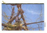 Tawny Eagle  Aquila Rapax Calling From  Acacia Bush Carry-all Pouch