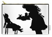 Tea Party Dolly Silhouette Carry-all Pouch