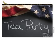 Tea Party Political Sign On Chalkboard Carry-all Pouch