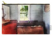 Teacher - One Room Schoolhouse With Hurricane Lamp Carry-all Pouch by Susan Savad
