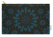 Teal And Brown Floral Abstract Carry-all Pouch