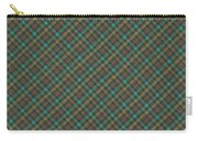 Teal And Green Diagonal Plaid Pattern Fabric Background Carry-all Pouch